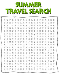 Word Search for Summer