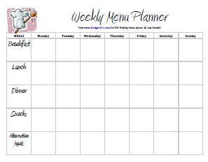 45 Printable Weekly Meal Planner Templates Kitty Baby Love