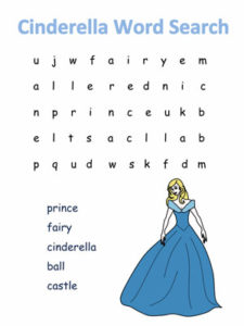 Cinderella Disney Word Search