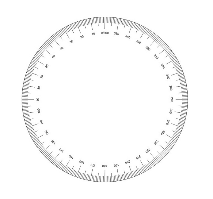 photo relating to Printable Circle titled 16 Enlightening Printable Protractors