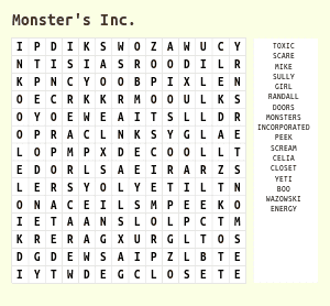 Disney Channel Word Search