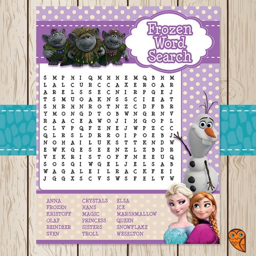 Disney Frozen Word Search