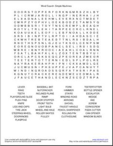 Easy Science Word Search