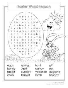 Free Easter Word Search