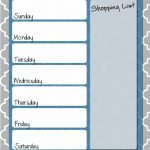Free Printable Healthy Weekly Meal Planner with Grocery List