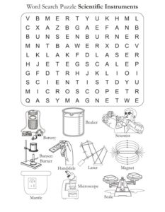 Free Science Word Search