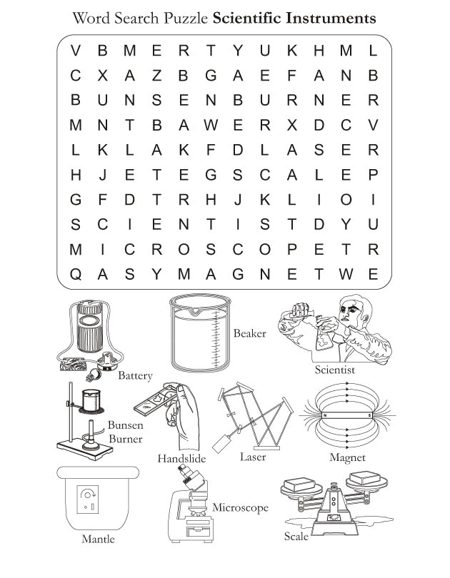 21 Knowledgeable Science Word Search | Kitty Baby Love