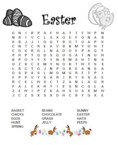 Hard Easter Word Search