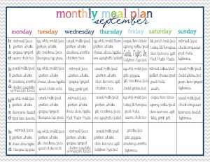 healthy weekly meal planner with grocery list on a budget