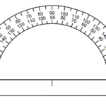 Printable Protractor 180 Degrees