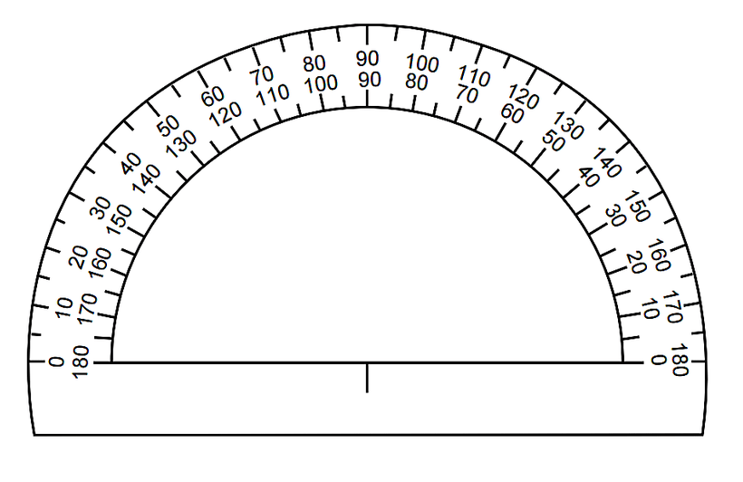 graphic about Free Printable Protractor named 16 Insightful Printable Protractors
