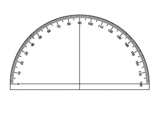 photograph about Printable Protractor Pdf named 16 Insightful Printable Protractors