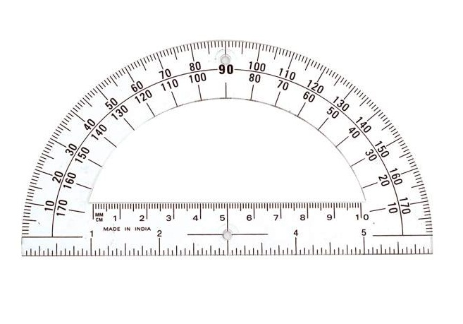photo relating to Protractor Printable Pdf known as 16 Educational Printable Protractors