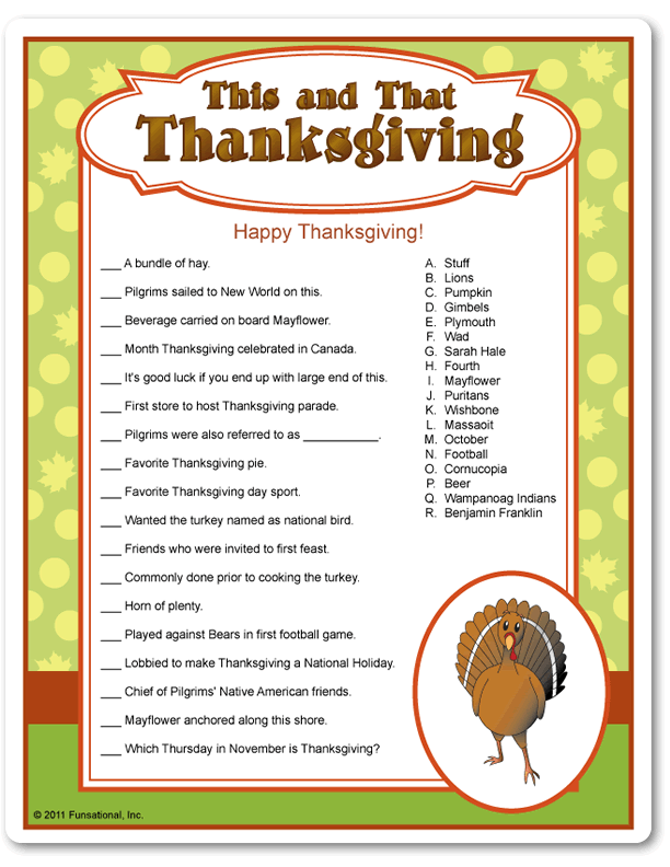 graphic relating to Free Printable Thanksgiving Games for Adults titled 10 Thanksgiving Trivia Inquiries