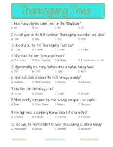 Thanksgiving Trivia Questions for Kids