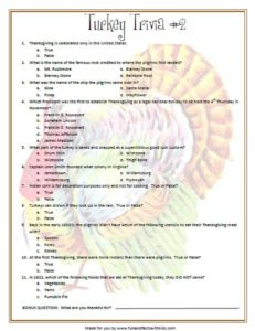 Trivia Questions for Thanksgiving