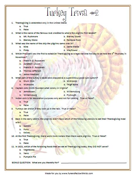 graphic relating to Food Trivia Questions and Answers Printable known as 10 Thanksgiving Trivia Queries