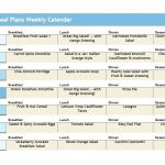 Weekly Low Fat Meal Planner
