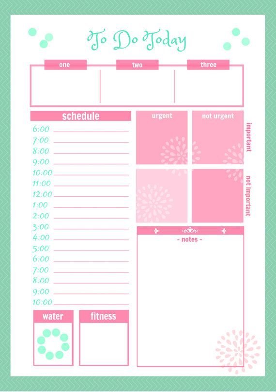 Of The Best Printable Daily Planner Templates Kitty Baby Love
