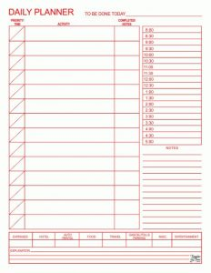 Free Printable Daily Planner Template