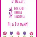 Mothers Day Cards in Spanish Printable