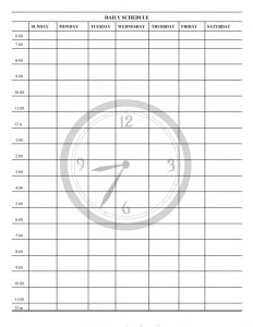 Printable Daily Planner Template