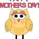 Printable Mothers Day Cards Owls