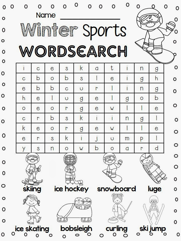 Winter Sports Word Search