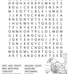 Winter Word Searches for Kids