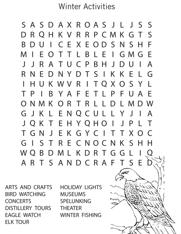 photo relating to 6th Grade Word Search Printable titled 14 No cost Printable Wintertime Phrase Lookups