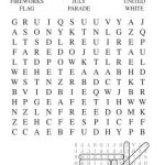 4th of July Word Search Printable Free