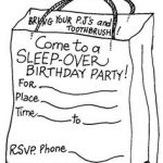Almost Sleepover Party Invitations