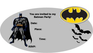 Batman Birthday Invitation Cards