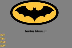 Batman Birthday Invitations Templates