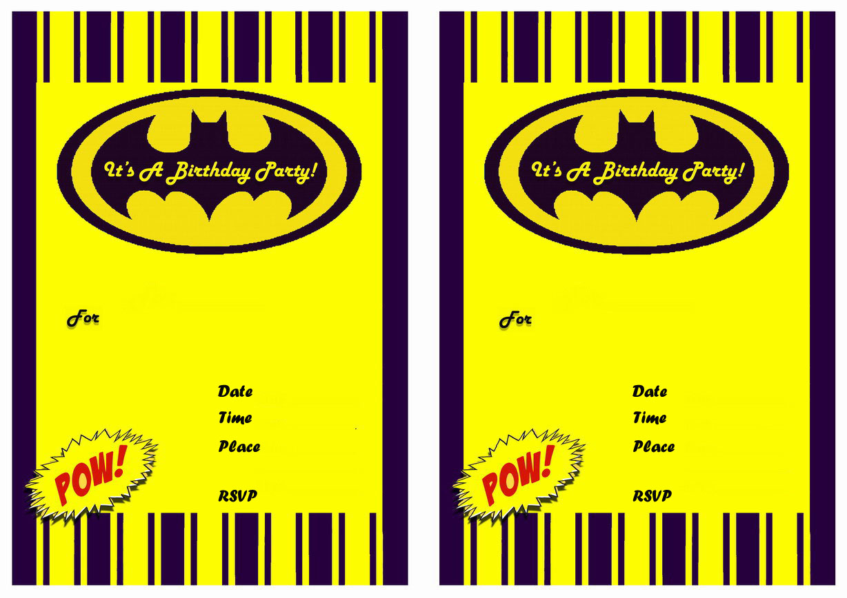 9 Awesome Batman Birthday Invitations | Kitty Baby Love