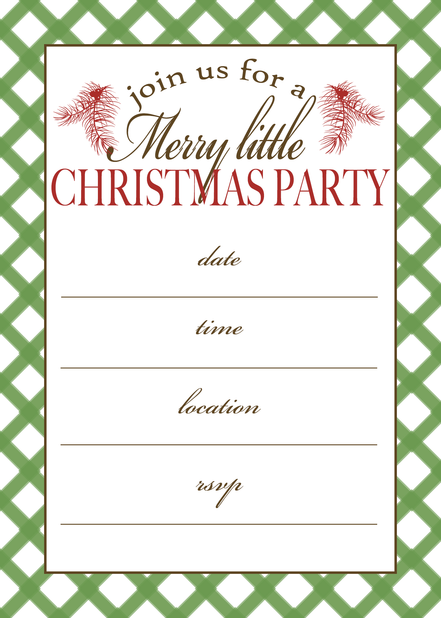 Ideas For Christmas Party Invitations Part - 32: Christmas Pajama Party Invitations