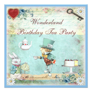 12 Cool Mad Hatter Tea Party Invitations
