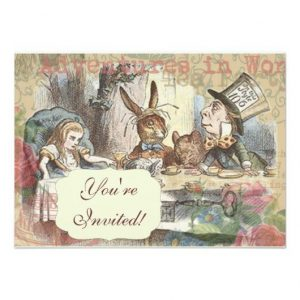 Free Printable Alice in Wonderland Tea Party Invitations