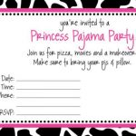 Free Slumber Party Invitations to Print