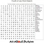 Large Print 4th of July Word Search