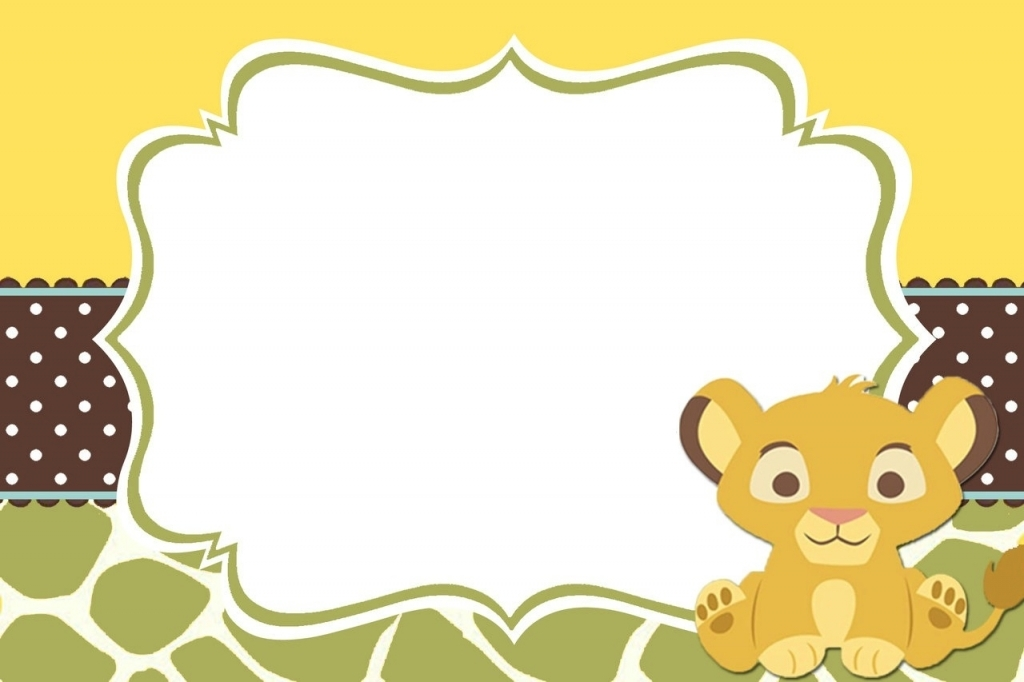 free lion king baby shower invitations  kitty baby love, invitation samples