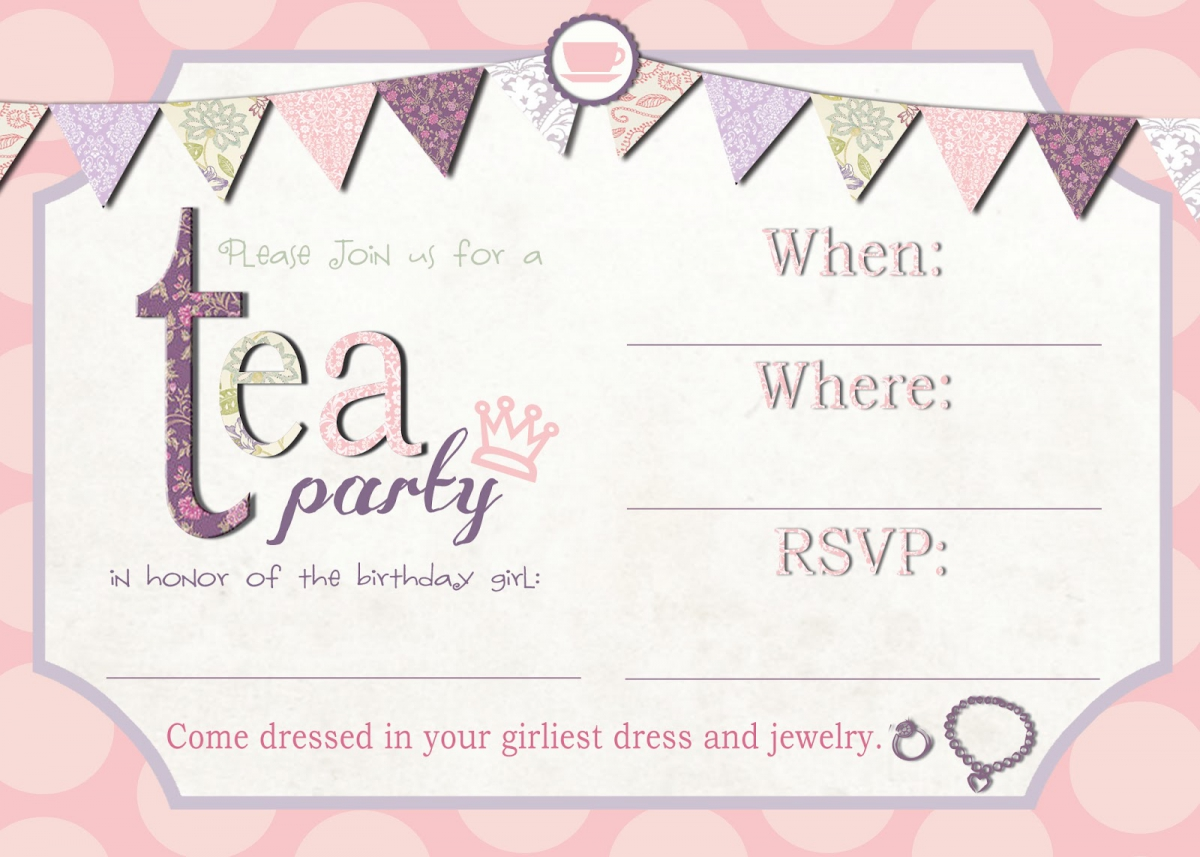 12 Cool Mad Hatter Tea Party Invitations – Party Invite Templates Free