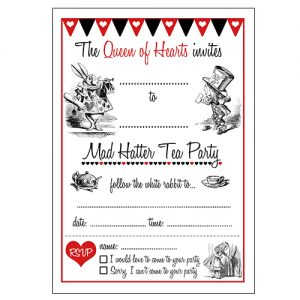 Mad Hatter Tea Party Invitations Free