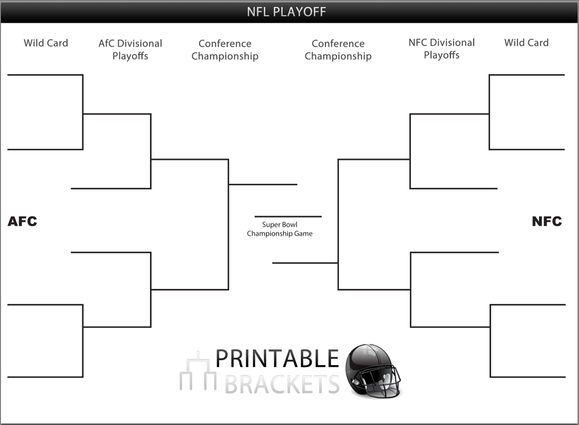 image about Nfl Playoff Bracket Printable named Printable NFL Playoff Brackets