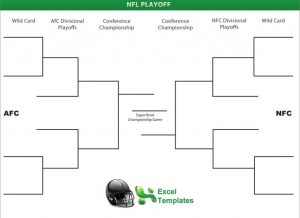 NFL Playoffs Printable Bracket