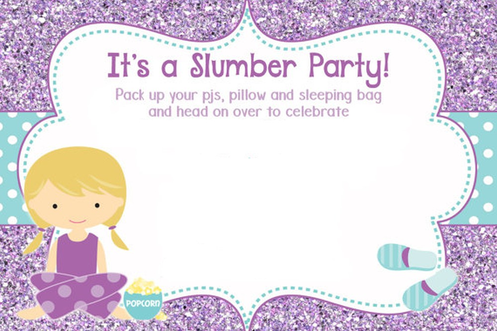50 Beautiful Slumber Party Invitations – Sleepover Party Invitations Templates