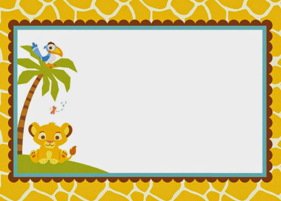 9 Free Lion King Baby Shower Invitations Kittybabylove Com