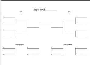 Mesmerizing image intended for printable nfl playoff brackets