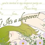 Sleepover Party Invitations for Teenagers