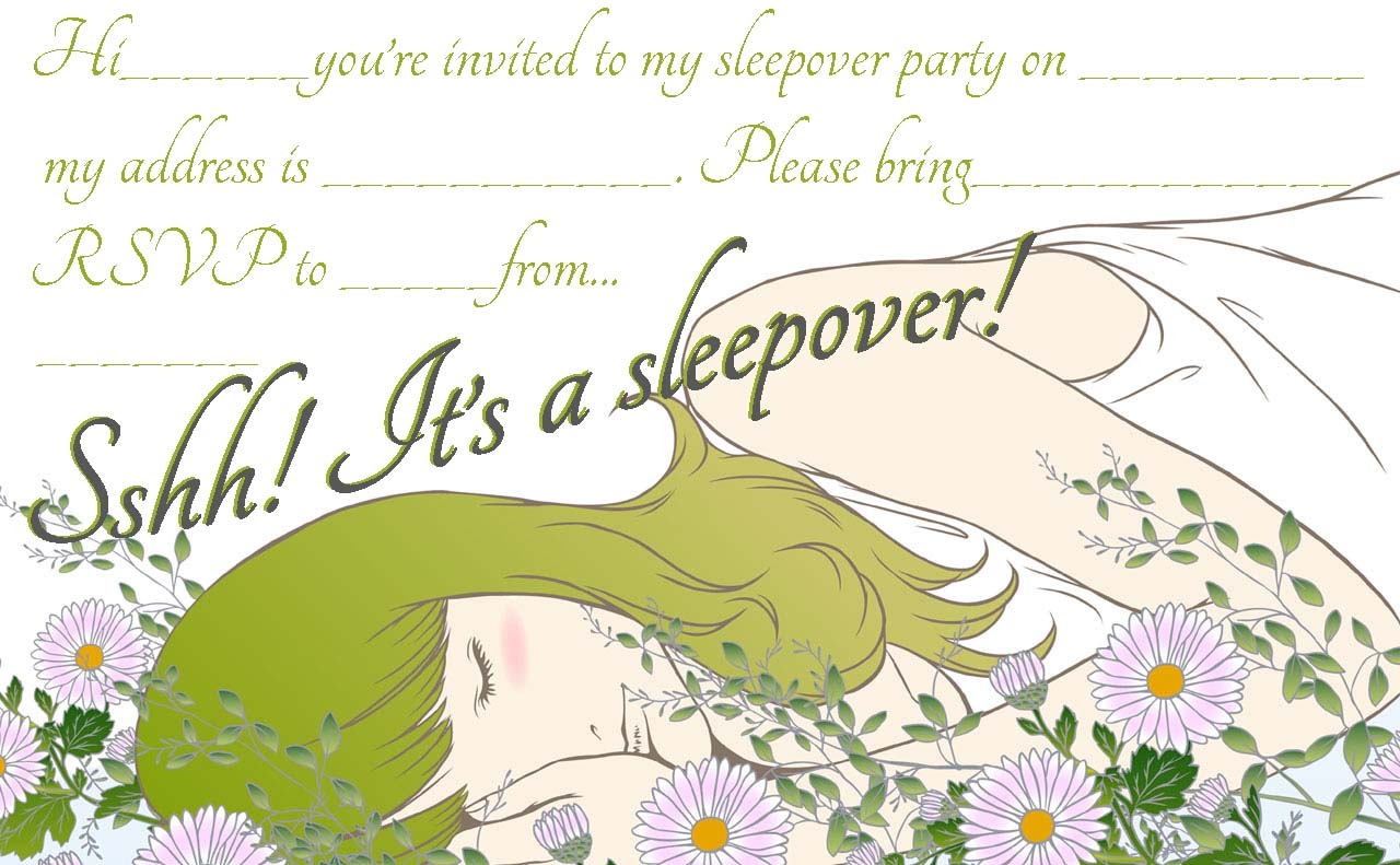 50 beautiful slumber party invitations kitty baby love sleepover party invitations for teenagers monicamarmolfo Image collections
